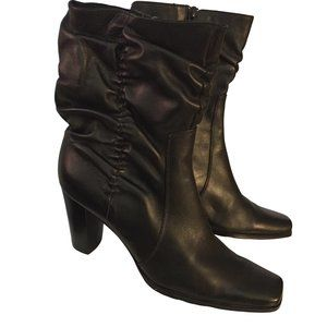 Easy Step Leather Ankle Boots